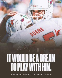 Davante Adams Wants To Reunite With Derek Carr Once Again In The Future Years Of Ahead Of Him Coming.