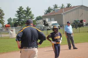 Alexis Booms Was Solid For The Bad Axe Hatchets Softball Team In The Division 3 Regional Semifinals Against The Millington Cardinals In The Lost On Saturday.