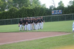 Almont Raiders Beat The Cros-Lex Pioneers In The Pre-District Baseball Game On Tuesday Night At Yale HS.