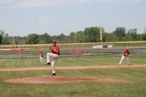 Nathaniel Hartman Pitch Very Well For The Peck Pirates Baseball Team In The Division 4 District Semifinal Game At Kingston HS.