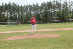 Ethan Marshall Is A Good Left-Handed Pitcher For The Marlette Red Raiders Baseball Team.