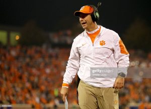 Dabo Swinney Is One Of The 3 Best College Football Head Coaches In The Nation Right Now In Death Valley, South Carolina.