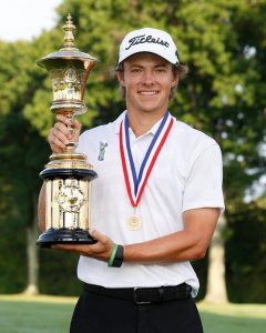 James Piot 121st US Amateur Champion At Oakmont Country Club Nearby Pittsburgh, PA.
