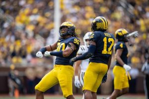 Michigan Wolverines Defense Held Western Michigan Broncos Offense To 14 Points On The Scoreboard.