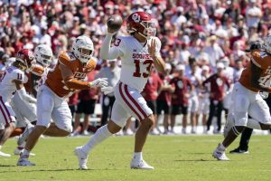 Caleb Williams Guide The Boomer Sooners To A Back 2 Back Victories As A True Freshman QB In 2021.