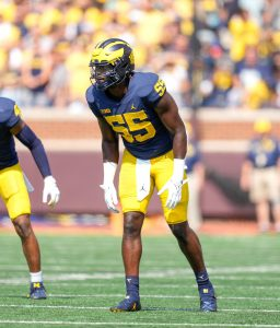 David Ojabo Is Becoming A Good DE/LB For The 2021 Michigan Wolverines Football Team.