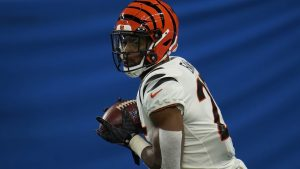 Chris Evans Got His 1st NFL TD For The 2021 Cincinnati Bengals At Ford Field In Detroit.